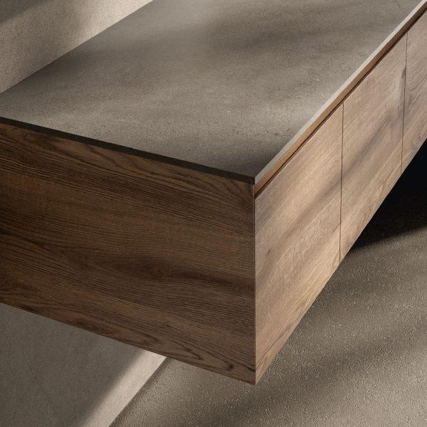 Finitions bois, texture grain continu