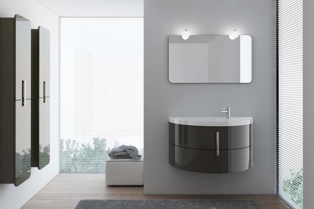 La présentation sur le web de la nouvelle collection des meubles modulaires pour la salle de bains Moon