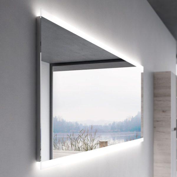 Miroir avec son encadrement et éclairage à LED intégré