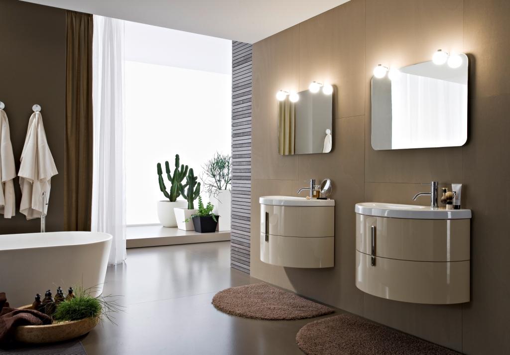 Meubles Moon pour la salle de bains modulaire: des idées
