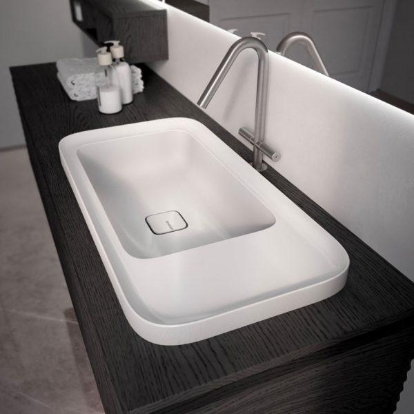 Nouveau lavabo « Cameo »  en ceramique mate et brillante