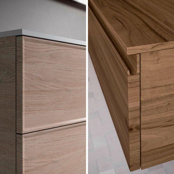 Double type de porte: avec cadre (Form T) ou avec prise de main intégrée (FormJ)