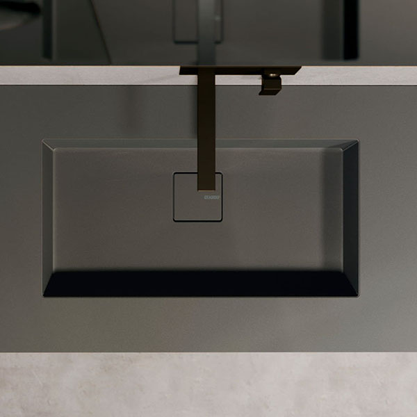 Plan de toilette Duplex en Fenix avec vasque intégrée